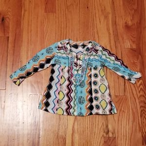 Amy Coe Bright Print Hippie Toddler Blouse 18M